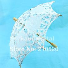 U118-nuovo arriva pizzo bianco ombrello parasole per bridal wedding decoration diametro 44 cm goccia shippping(China (Mainland))