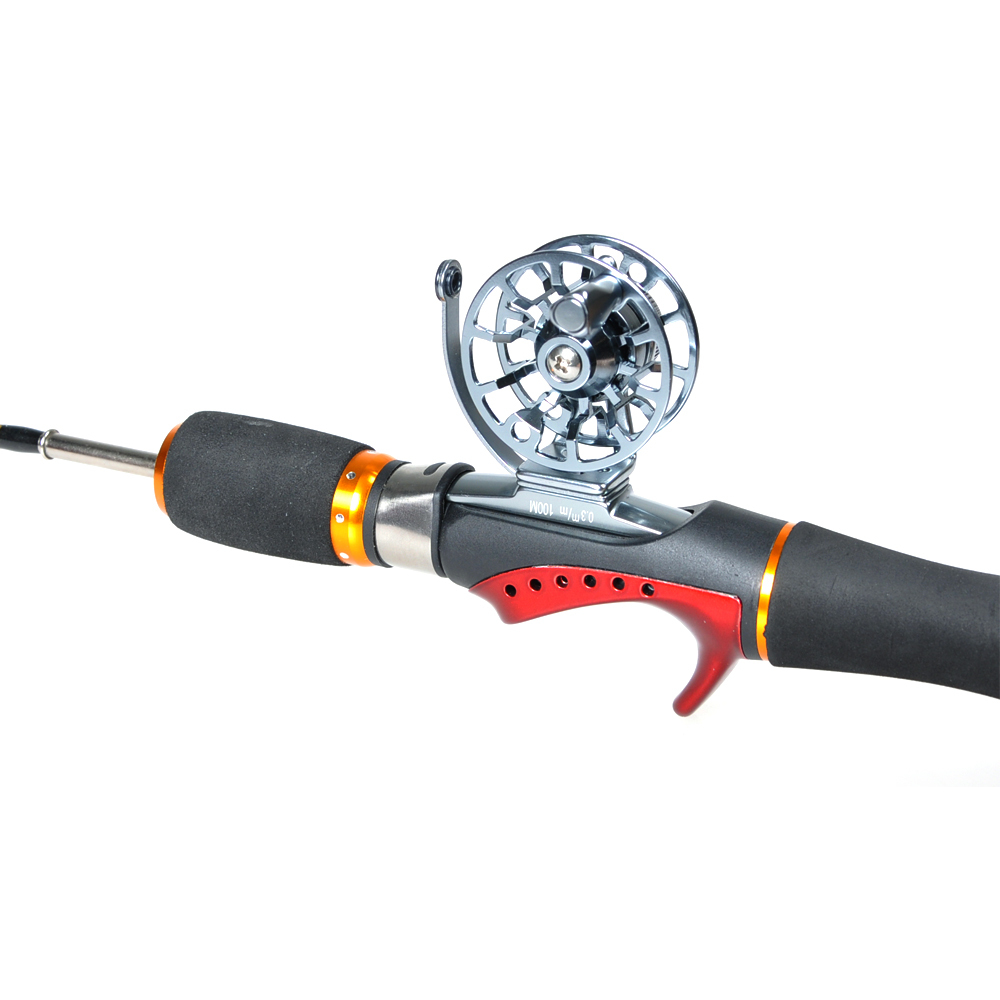 Buy ice fishing reel gold grey hi 45r 0 for Ice fishing reels