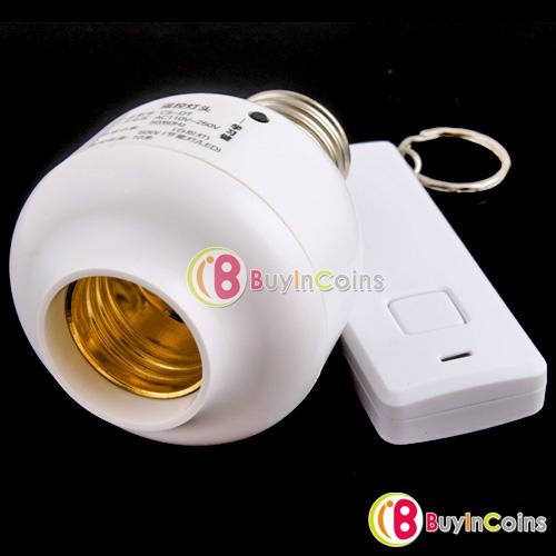Wireless Switch Control E27 Base Socket LED Light #1 [5108 01 01](China (Mainland))