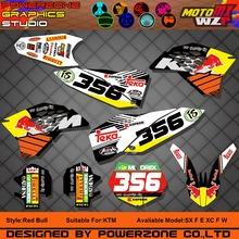 Customized Team Graphics Backgrounds New RB Decals 3M Stickers Kits KTM SX SXF03-17 EXC F W 04-17 125 150 250 450 Sixdays - PowerZone Co.,Ltd store