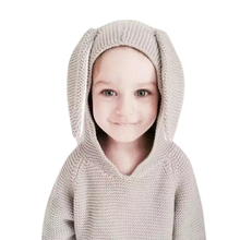 Baby Sudaderas For Girls Boy Clothes Winter 2015 Casual Nyc Kids Knitwear Rabbit Jumper Pullover Cute Children Sweater Jacket(China (Mainland))