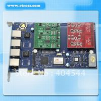 Four ports Asterisk PCI-E Telephony VOIP card with 4 FXO/FXS