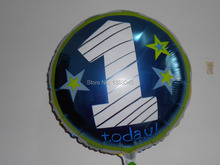 """2015 nuevo estilo 18 """" número 1 feliz cumpleaños helio globos Foil Baloes De Festa decoraciones De fiesta De cumpleaños Baloon"""