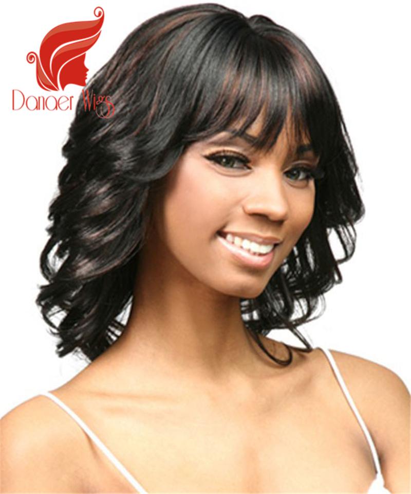 Danaer Hot Sale Medium Curly Wave Hair WIgs for Black Women American African Junjou Romantica Hair Natural Less Shine Perruque<br><br>Aliexpress