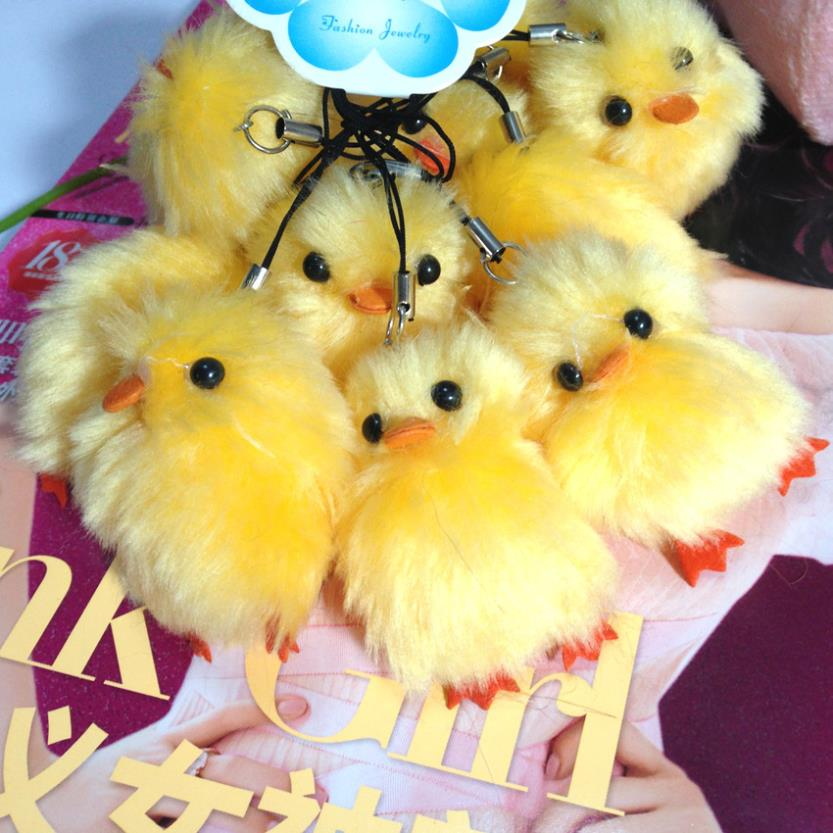 New 2014 fashion yellow duck charm and pendant ,key and mobile phone animals dangle charms china wholesale jewelry for children(China (Mainland))