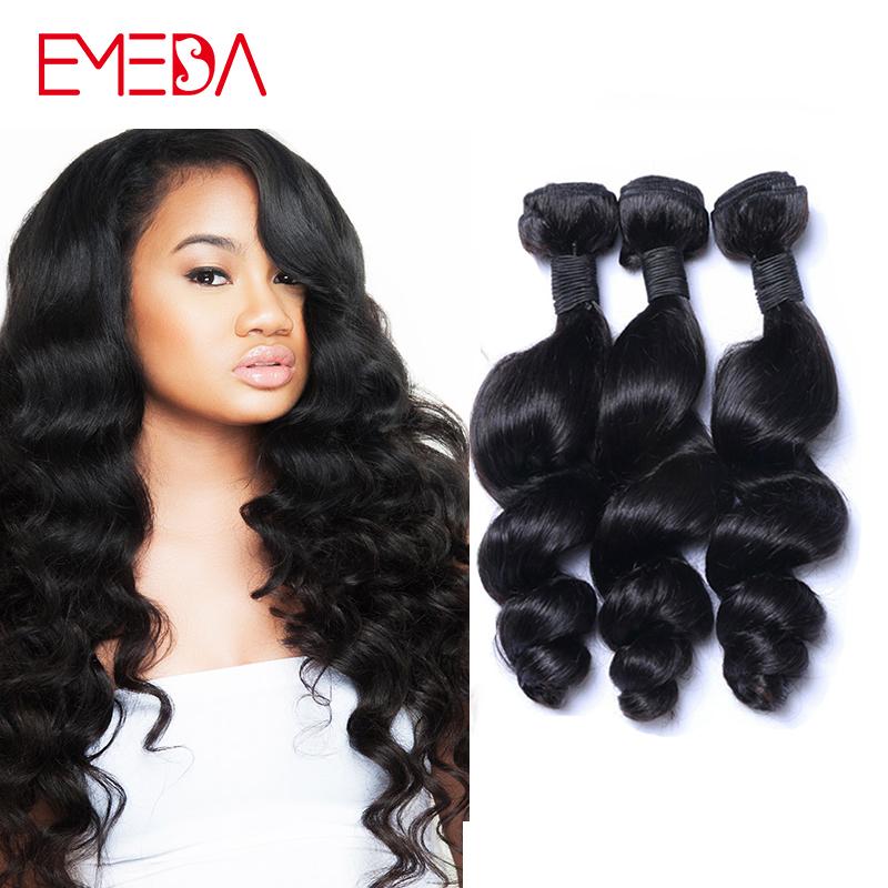 100% Human Hair Extension 7A Свободная волна Mongolian Hair Weave Bundles 3 Unprocessed Human Hair Loose Curly Mongolian Hair Bundles