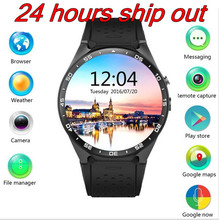 2016 Original KW88 MTK6580 Quad core android 5.1 1.39'' Smart Watch phone 3G 2.0MP GPS WIFI Pedometer Heart Rate mobile phone(China (Mainland))