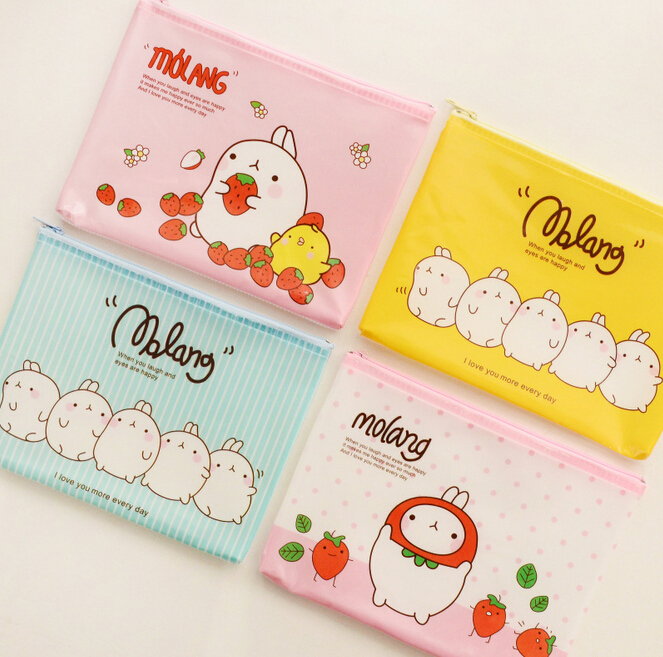 Cute Molang A5 B6 Mini File Bag Document Bag File Folder Stationery Filing Production School Office Supply<br><br>Aliexpress