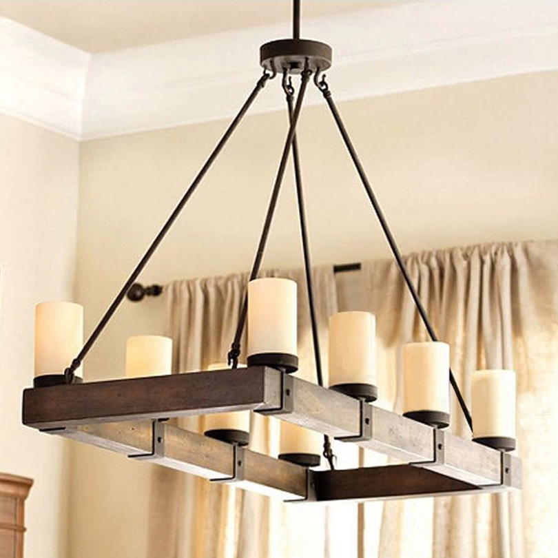 rural countryside vintage pendant lights rectangular nature