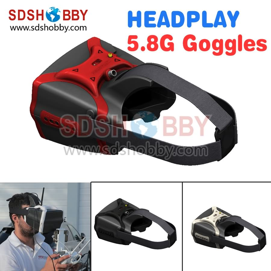 HeadPlay HD FPV Goggles Video Glasses Built-in 5.8G 32CH Receiver with HDMI Input for FPV Multicopter<br><br>Aliexpress