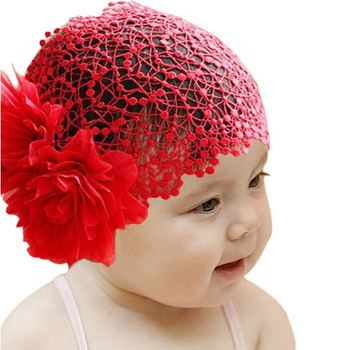 Free Shipping Pink and Red Flower Headband Baby Girls Elastic Hairband Hair Accessories Headwear TS0001  Wholesale Drop Shipping