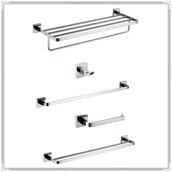 Bathroom hardware set Solid Brass Chrome ,Robe hook,Paper Holder Towel Bar pcs bathroom ccessories CB000F-3 wash tub(China (Mainland))