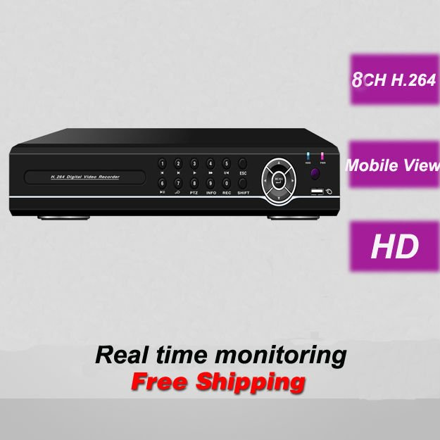 Full D1 HDMI 8CH HD DVR digital video recorder Remote View security surveillance CCTV camera monitoring systems installation(China (Mainland))