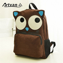 Hot Sell!! New Women Owl Backpack Printing Backpack Fashion Cute Canvas Children School Bags PB21(China (Mainland))