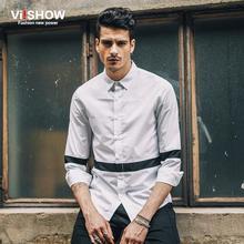 Viishow Fashion Blouse Men Clothes Solid Slim Fit Men Shirt Long Sleeve Business Striped Shirt Button Down Shirt Camisa Social