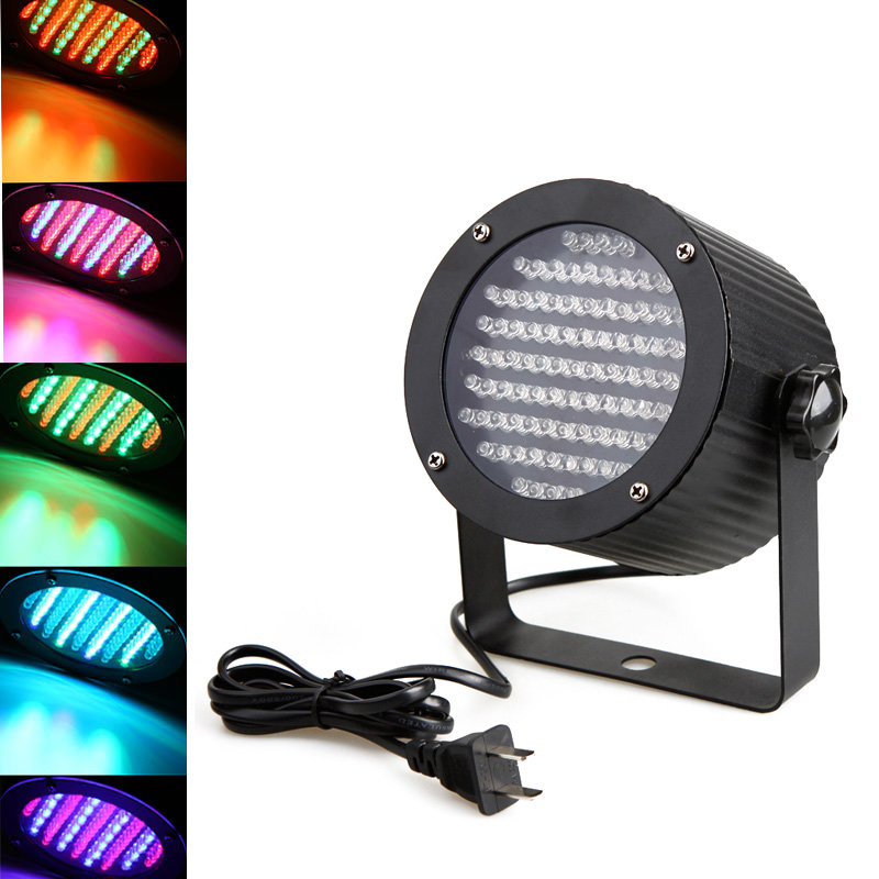 Professional High Power 4 Channel DMX-512 LED Stage Light RGB LED Light Projector Stage Party Show Disco US Plug(China (Mainland))