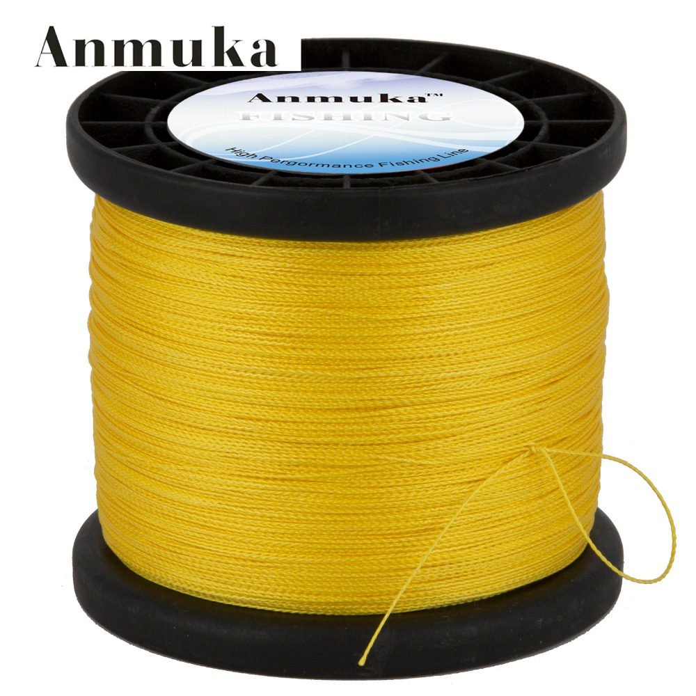 Anmuka Brand 1000 Meter Multifilament PE Braided Fishing Line Carp Super Strong 4 Stands 8/10/20/30/40/60LB Free Shipping(China (Mainland))