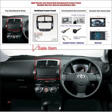 2 DIN ABS Plastic Frame Panel TOYOTA lst 2007-2010 Aftermarket Radio Stereo DVD Player GPS Navigation Installation - ACP Store store