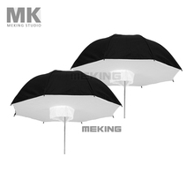 Selens Photo Studio Lighting Umbrella Softbox 2* 84cm/33″ Black Silver 2in1 kit