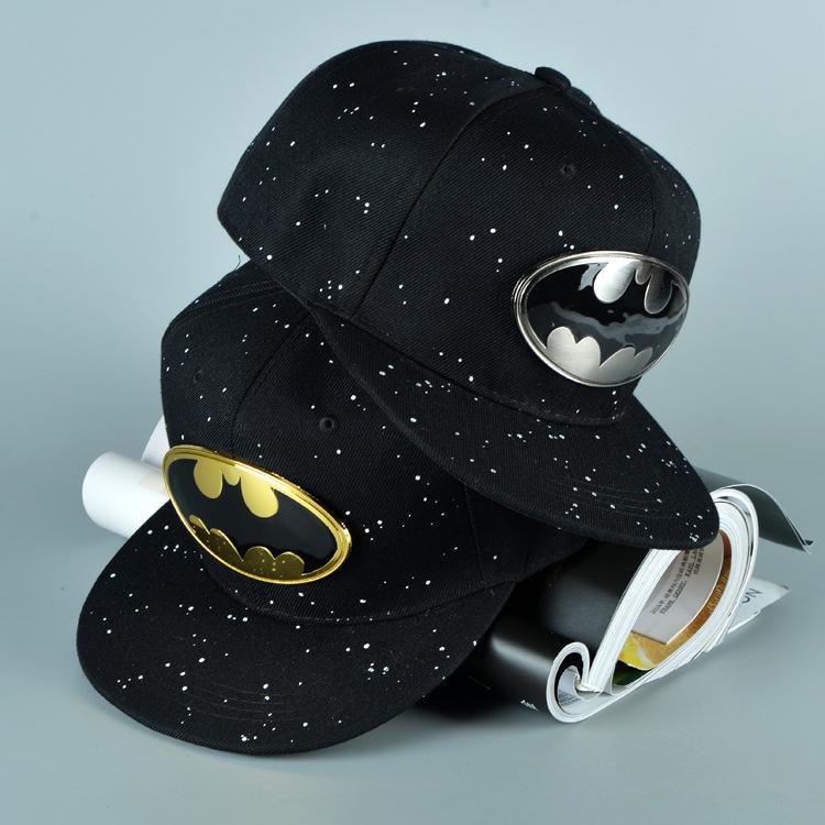 10pcs free shipping/2015-A904 Metallic iron the batman dot spray paint  baseball cap Men &amp; Women snapback hip-hop hatОдежда и ак�е��уары<br><br><br>Aliexpress