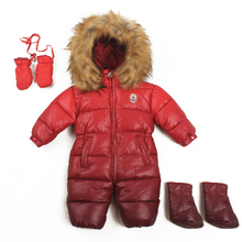 Baby winter down Cotton rompers newborn windproof infant outdoor kids romper thickening choth boy overalls girl onesie jumpsuit(China (Mainland))