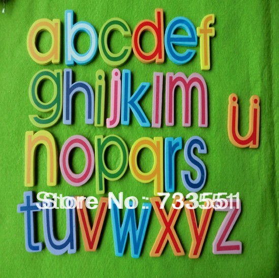 Promotional!Free shipping,12pcs Creative A-Z Alphabets items Wooden fridge magnet sticker,Refrigerator magnet,Baby Toy(China (Mainland))