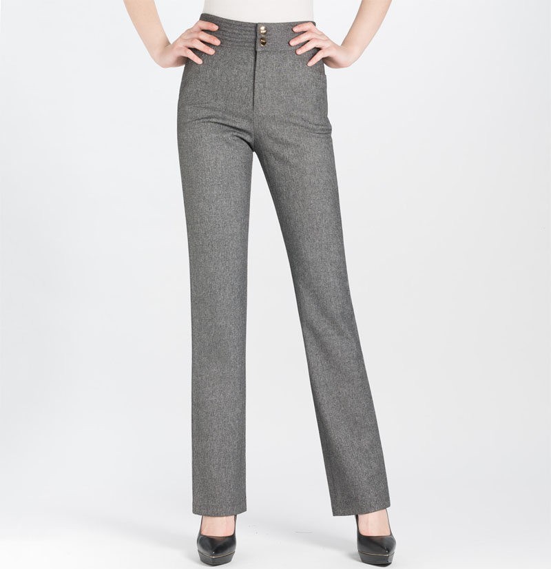 women gray pants - Pi Pants