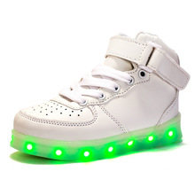 Eur25-37//USB Charging Basket  Led Children Shoes With Light Up Kids Casual Boys&Girls Luminous Sneakers Glowing Shoe enfant(China (Mainland))