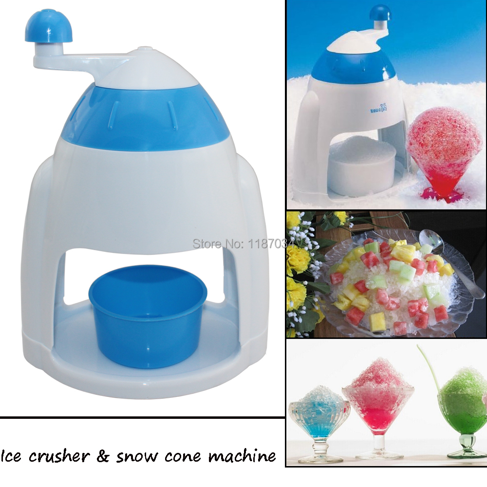 Mini portable home use manual ice crusher and snow cone machine(China (Mainland))