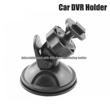 Black 360 Degree Rotating Car Holder For Sport DV Camera Mount DVR Holders Driving Recorder Suction Cup Drop Shipping(China (Mainland))