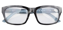 R045 Grey Polycarbonate Large Lens Nearly Invisible Line Bifocal Glasses Readers Men 0 50 0 75