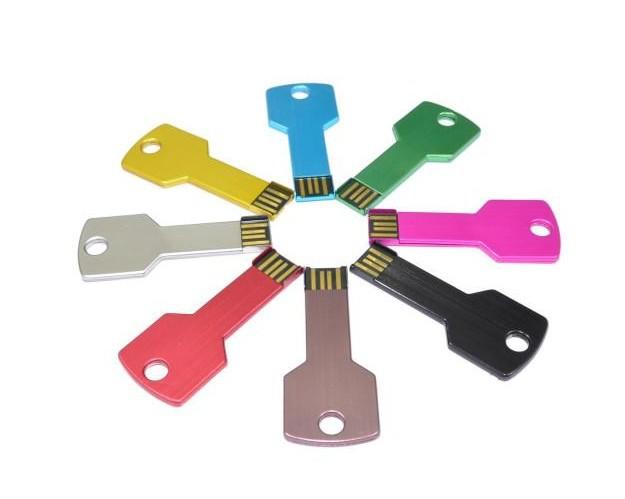 Key shape 4GB 8GB 16GB metal usb flash drive pen drive pendrive U disk Thumb memory stick multiple colours free shipping(China (Mainland))
