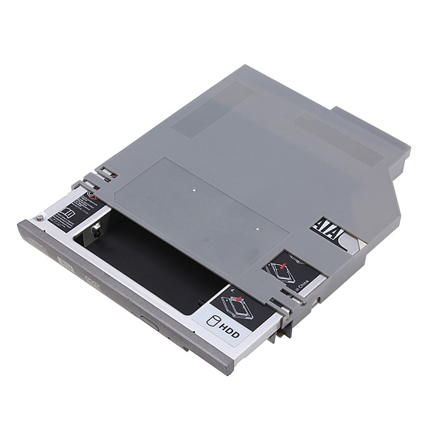 New SATA 2nd HDD Hard Drive Caddy Adapter Tray for 12.7mm For DELL D600 D610 D620 D630 D800 D810 D830 wITH Install Screwdriver(China (Mainland))