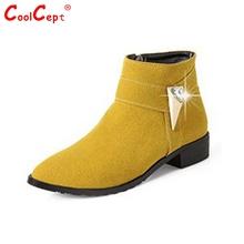 Tamaño 30-49 mujeres planas media corta sexy calzado de moda de arranque botas cálidas botas de nieve de invierno de color del arco iris feminina zapatos P19472(China (Mainland))