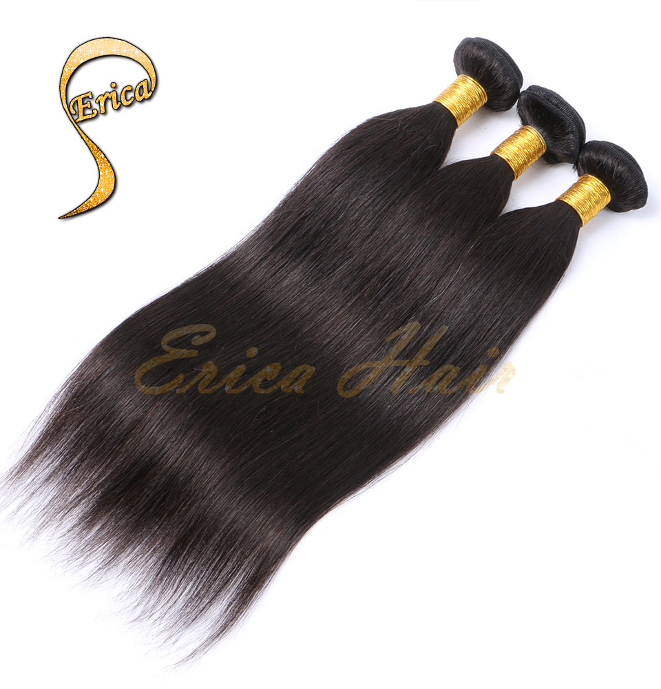 7A Filipino Virgin Hair straight Unprocessed Hair Weaves 100% Virgin Filipino Hair weaving 3Pcs Beauty Hair Extension hair weft