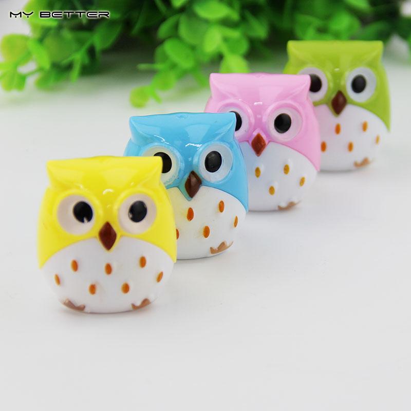 1 X Random Color Mini Kawaii Funny Owl Pencil Sharpener Cutter Knife School Student Stationery Supplies(China (Mainland))