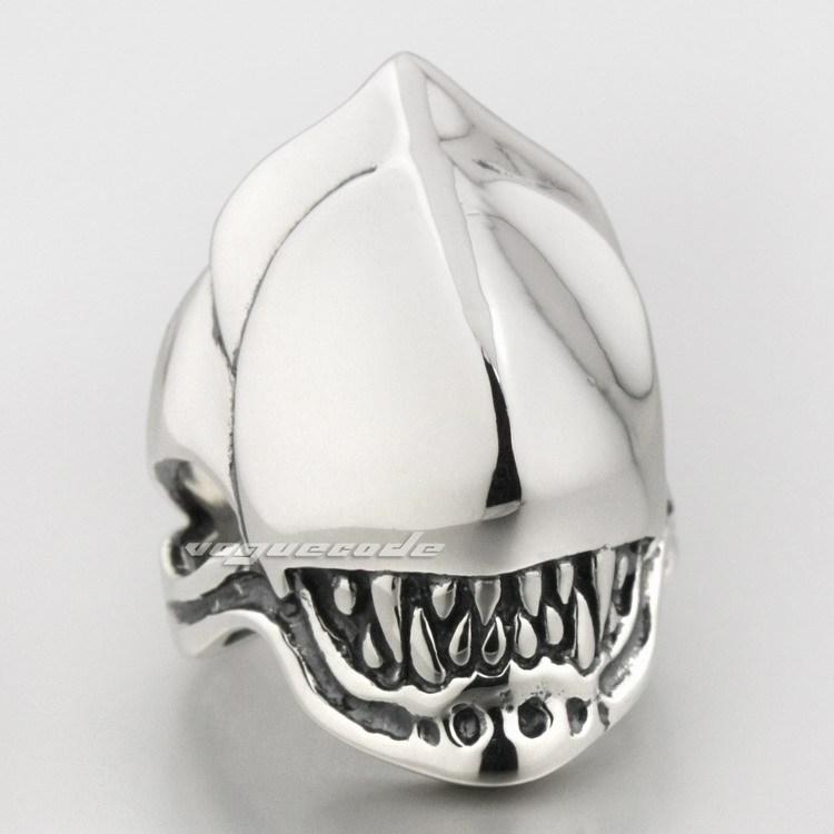 Alien Fang Skull 925 Sterling Silver Mens Biker Ring 8S008<br><br>Aliexpress