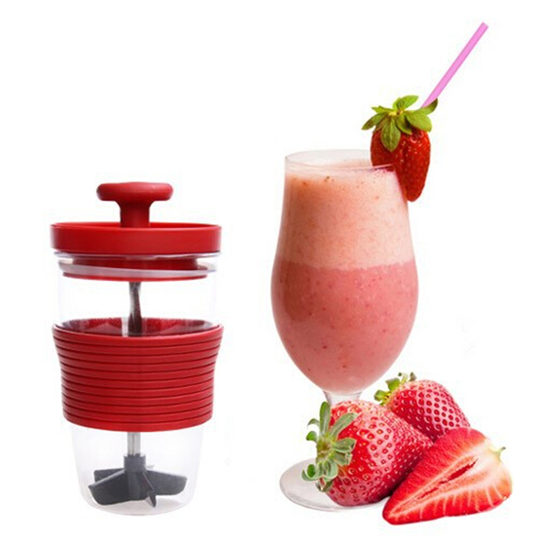 Fruit Stirring Cup Manually Juice Cup Milk Shake DIY Manual Mixing Cup Kitchen Accessories For Juicer Machines Kitchen Tools(China (Mainland))