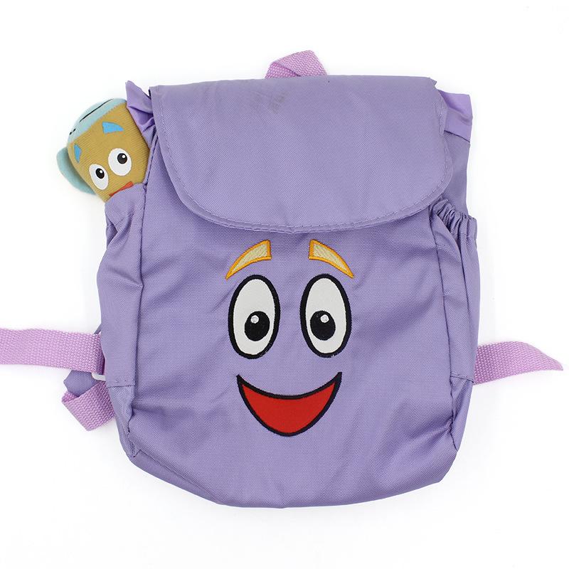 1pcs Children School Bag Cartoon adventurous dora backpacks Plush with Map Girls Kindergarten The Explorer Rescue Bag Wholesale(China (Mainland))