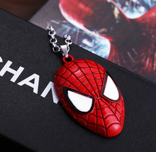 3 / pieces Film Jewelry Spider-Man mask pendant necklace High quality men's necklace