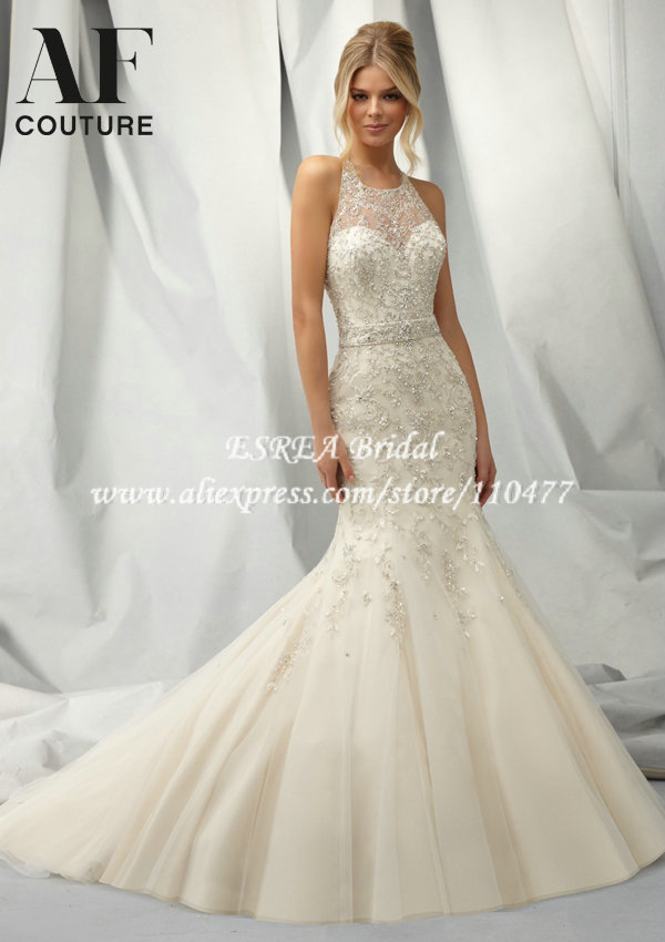 Similiar Crystal Organza Mermaid Wedding Dress Keywords