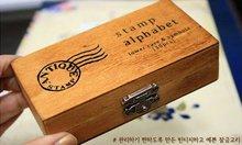 Freeshipping! 30 pcs/set  NEW uppercase & lowercase Wood stamp Set/Wooden Box/Multi-purpose DIY funny work/Wholesale(China (Mainland))