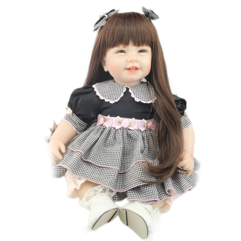 Fashion Baby Girl Clothes Black And White Plaid Skirt + Pink Pants + White Shoes Fit Our Store 22 inch 55CM Doll Reborn Girls(China (Mainland))