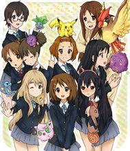 0710 40x60cm K-ON Meets Pokemon Anime K On Hot Japan Art Animation Poster Print – wall sticker Home Decor poster