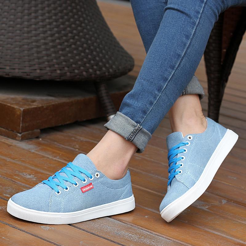 Cotton-made shoes single shoes female flat casual shoes flat heel Large 41 canvas shoes plus size women's shoes 40 - 43