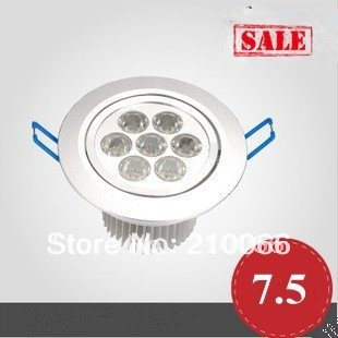 7W high quality high power Ceiling Recessed Lights ,led downlight,down light housing+free shipping