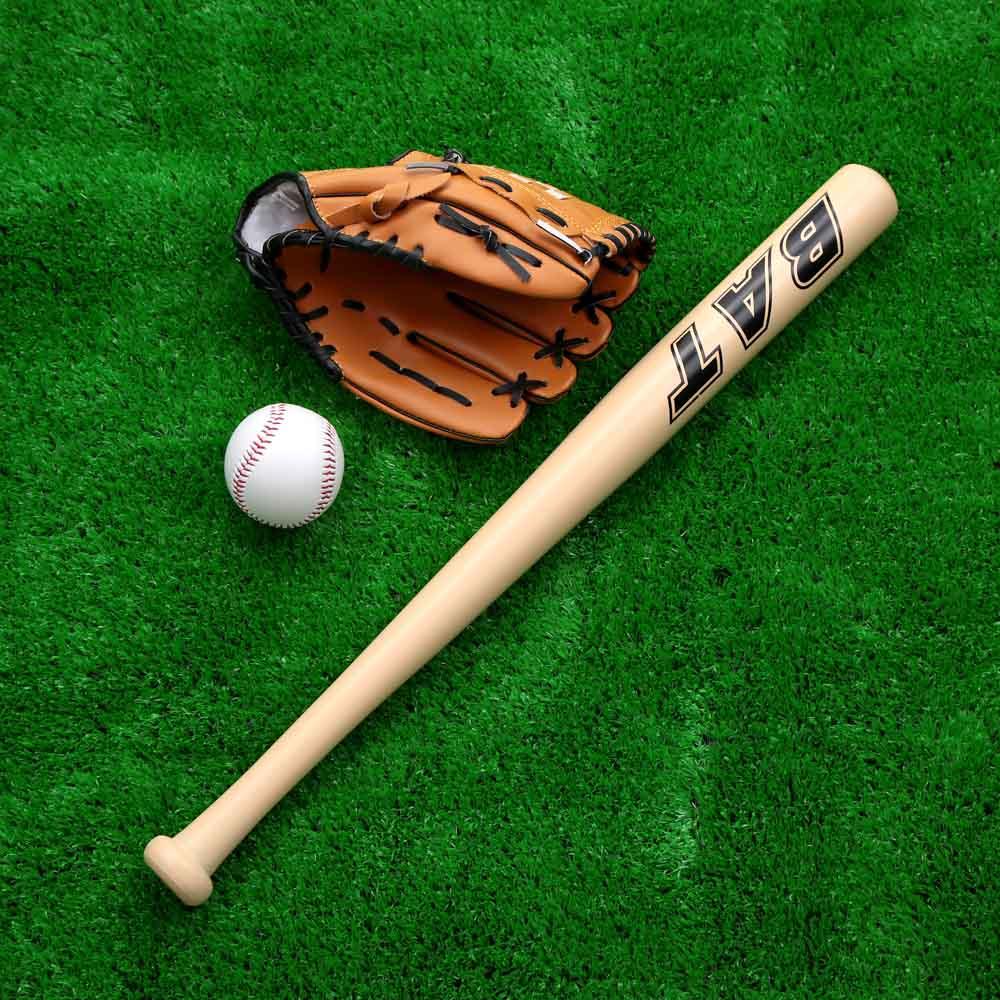 Baseballs Set Wooden Bat Baseball Glove Ball Softball Set Outdoor Sport For Kid Practice Training(China (Mainland))