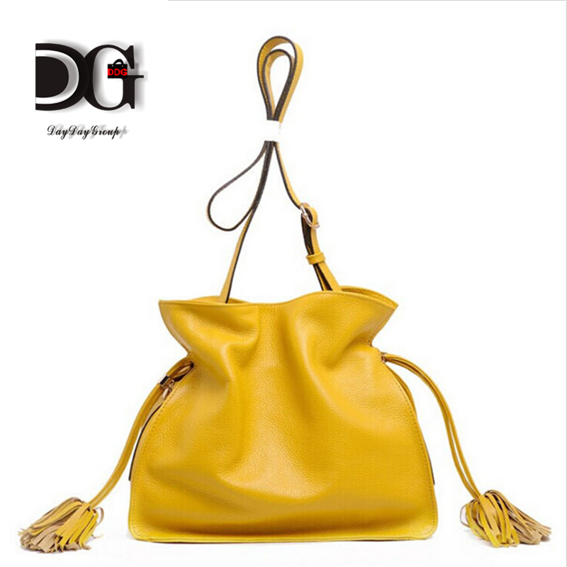 Fashion 100% Real Genuine Leather Style Women Handbag Tote Bag Ladies Shoulder Bags Wholesale candy colors<br><br>Aliexpress