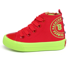 NEW 2015 children shoes canvas shoes children high sneakers fashion sport shoes male girls casual shoes SIZE 23-37(China (Mainland))