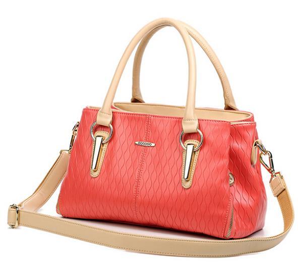 2015 Genuine Leather New Women Handbag Bag Lichee Pattern Shoulder Bags Bolsas Femininas Tote Fashion Women Messenger Bags F443